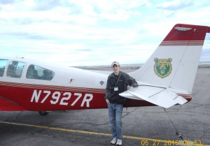 Tommy Condon after his commercial certificate checkride.