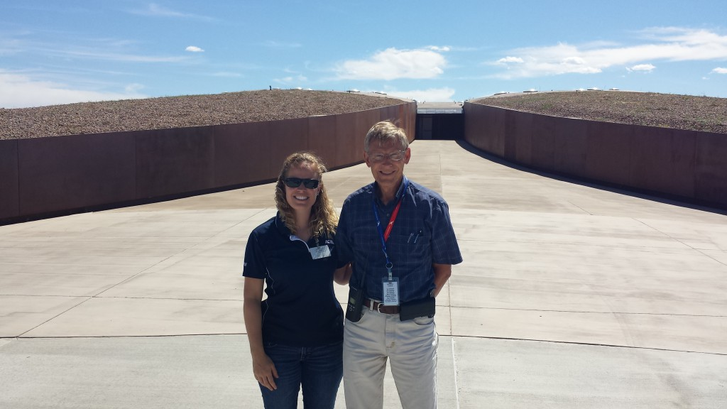 Bill Gutman with the Spaceport and I in front of the astronaut's walkway