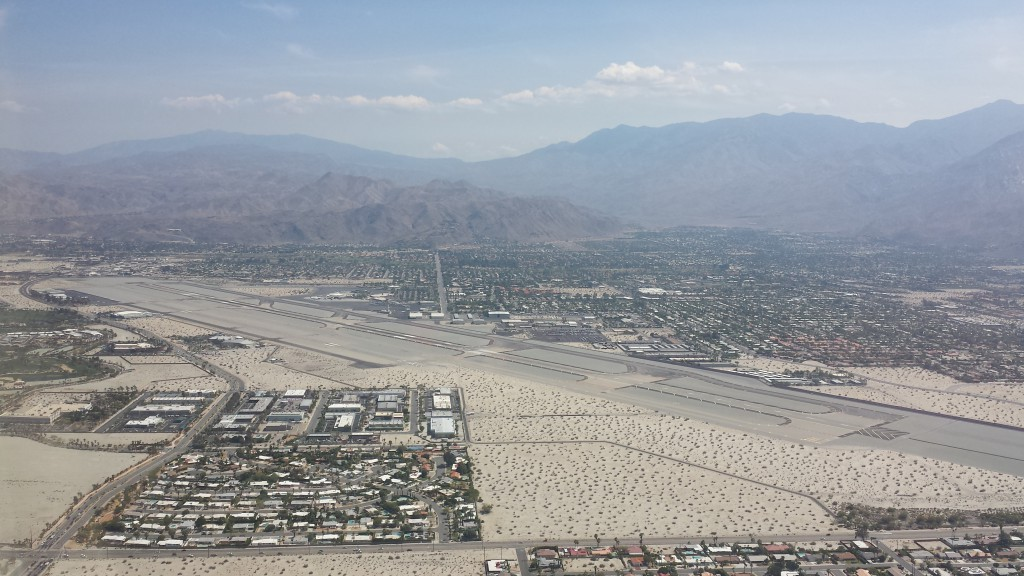 Downwind for Palm Springs's runway 31R