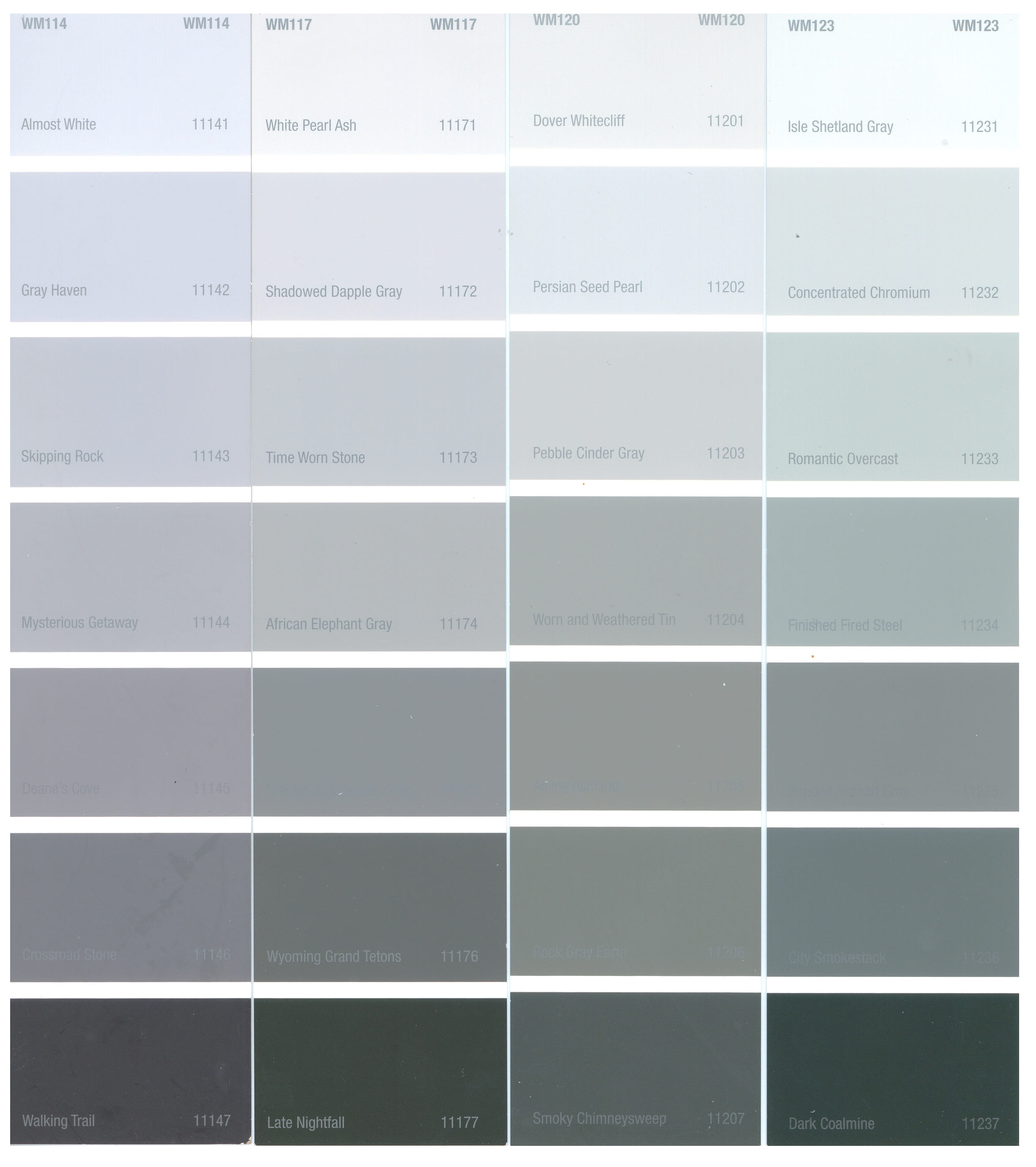 Tbo Shades of grey interior paint