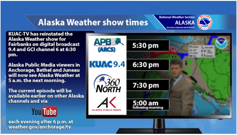 new schedule for AK Wx
