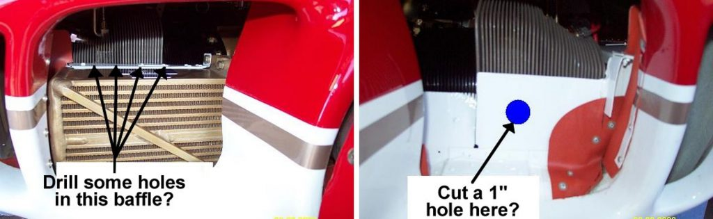 Suggested baffle holes